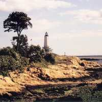 Five Mile Point Lighthouse in New Haven, Connecticut