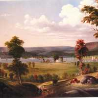 New Haven Summer Painting in Connecticut in 1849