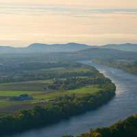 Landscape of the Connecticut River and Mount Sugarloaf