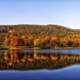 Squantz Pond Autumn Landscape in Connecticut