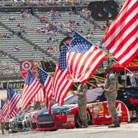Patriotism display at Dover International Speedway, Delaware