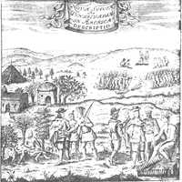 Encounter between swedish colonists and natives of Delaware
