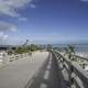 Going onto the Overseas Bridge with Sky in Bahia Honda State Park