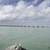 View of the Ocean landscape at the overseas highway under sky and clouds