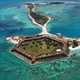 Fort Jefferson from the air in Dry Tortugas