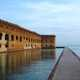 Walkway into Fort Jefferson in Dry Tortugas