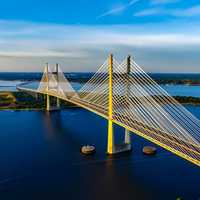 Dames Point Bridge in Jacksonville, Florida