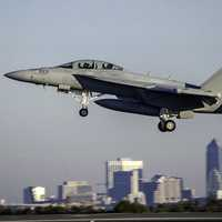 F-18 Hornet taking off from Jacksonville, Florida