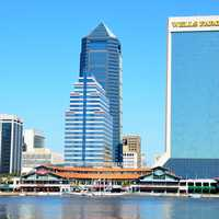 Skyline and towers in Jacksonville, Florida