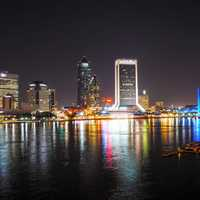 Skyline of Jacksonville, Florida at night