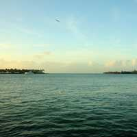 Looking into the Harbor at Key West, Florida