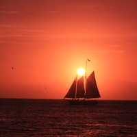 Sailing under the sun at Key West, Florida