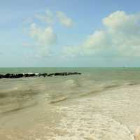 Waves Washing ashore at Key West  Florida