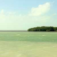 Aquamoraine waters at Marathon Islands, Florida