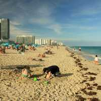 Atlantic Shoreline in Miami, Florida