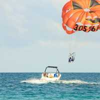 Parasailing at Miami, Florida