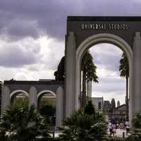 The original entrance to the theme park at Universal Studios in Orlando, Florida