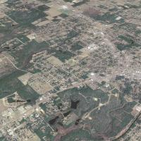 Aerial View of Crestview, Florida from Above