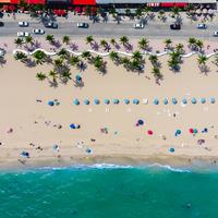 Aerial view of the beach at Fort Lauderdale, Florida