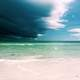 Beach seascape and sky in Florida
