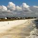 Beach and Shoreline Landscape in Mexico Beach, Florida