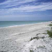 Beach near the western end of Sanibel in Florida