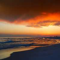 Beautiful Florida sunset on the beach