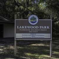 Britton Hill at Lakewood park, high point of Florida