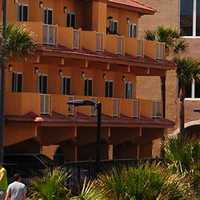 Buildings and hotels around Jacksonville Beach, Florida