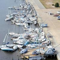 Damage done by Hurricane Ivan in Pensacola, Florida