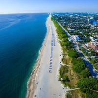 Delray Beach and seaside in Florida