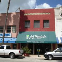 Downtown shops on Clematis Street in West Palm Beach, Florida