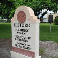 Flamingo Park Historic Marker in West Palm Beach, Florida