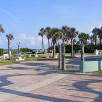 Frank Rendon Park with trees and Square in Daytona Beach Shores, Florida