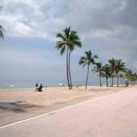 Hollywood's paved beach Boardwalk in Florida