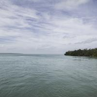 Ocean Landscape with aquamarine water in the Florida Keys