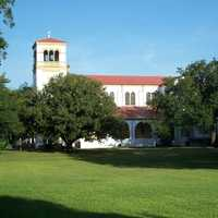 Saint Leo Abbey and lawn in Florida