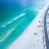 Seaside road and landscape in Florida