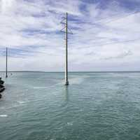 Telephone Poles in the shallow ocean