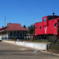 Train Caboose in Defuniak Springs, Florida
