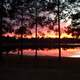 Winter sunset on Lake DeFuniak in Florida