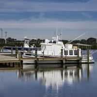 Boat docked in St. Augustine Estuary