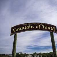 Fountain of Youth Sign in St. Augustine