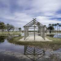 House Frames on Flooded Land