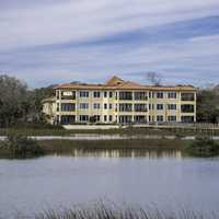 Large building by the Estuary in St. Augustine, Florida