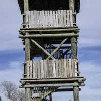 Wooden Observation Tower in St. Augustine