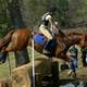 Cross-country riding competition at Red Hills Horse Trial in Tallahassee, Florida