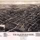 Tallahassee Cityscape in Florida in 1885