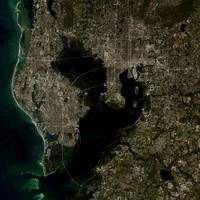 Satellite Image of Tampa, Florida