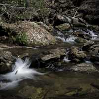 Cascading Stream Rapids in Chattahoochee-Oconee National Forest